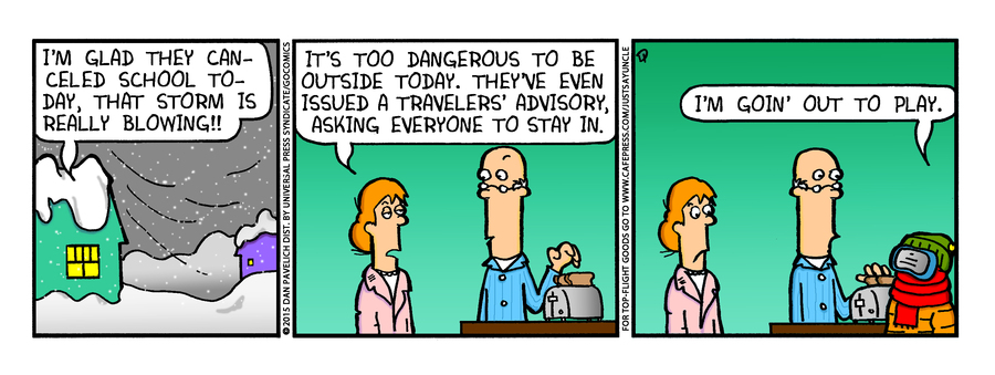 Just Say Uncle Comic Strip for February 03, 2015