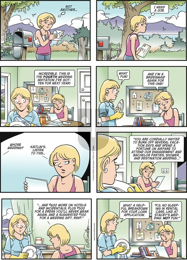 Doonesbury on Sunday September 1, 2019 Comic Strip