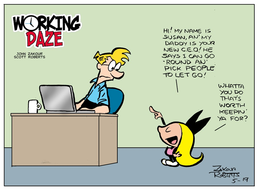 Working Daze Comic Strip for May 19, 2019