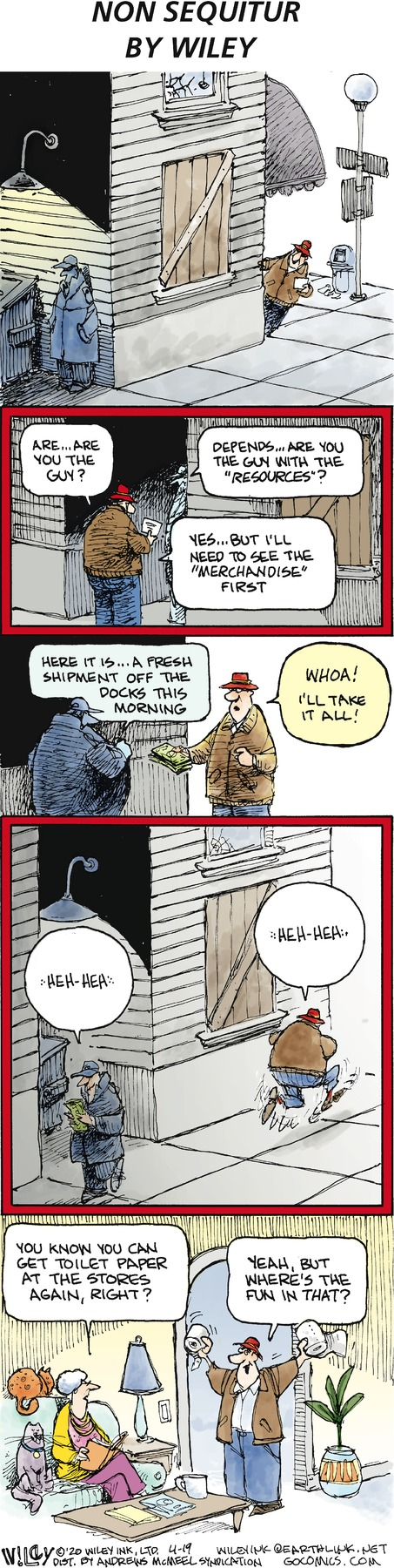 Non Sequitur Comic Strip for April 19, 2020