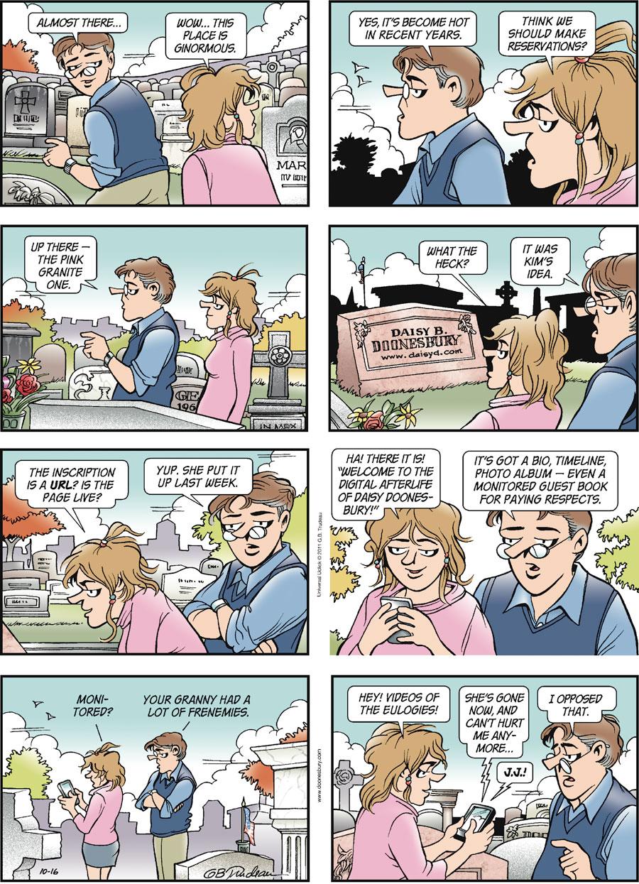 Doonesbury Comic Strip for October 16, 2011