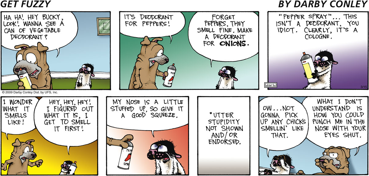 Get Fuzzy for Mar 15, 2009 Comic Strip