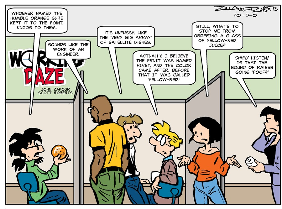 Working Daze Comic Strip for October 20, 2019