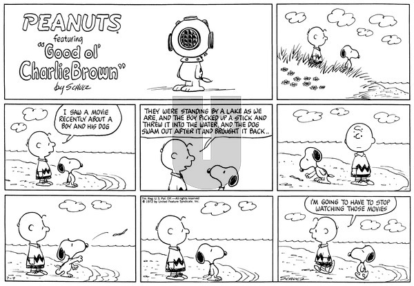 Peanuts on Sunday July 9, 1972 Comic Strip