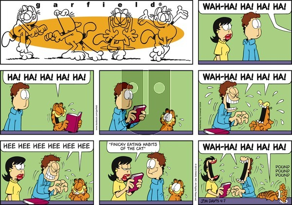 Garfield on Sunday April 7, 2013 Comic Strip
