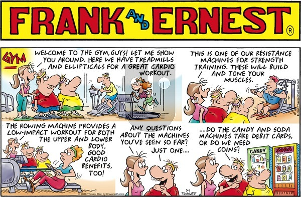 Frank and Ernest on Sunday May 1, 2016 Comic Strip