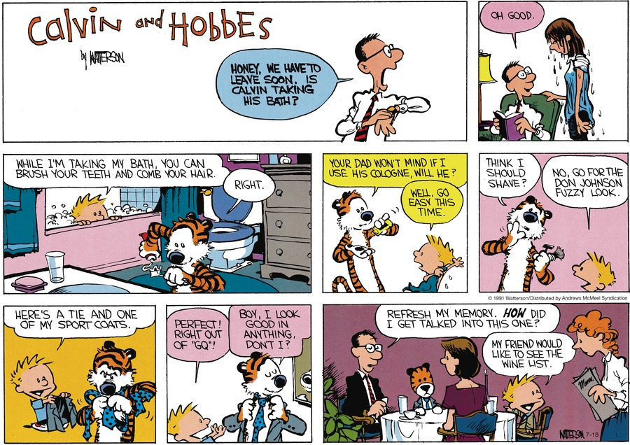 Calvin and Hobbes Comic Strip for July 18, 2021