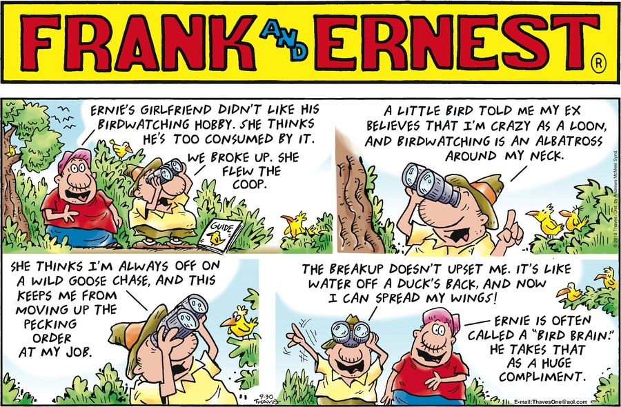 Frank and Ernest Comic Strip for September 30, 2018