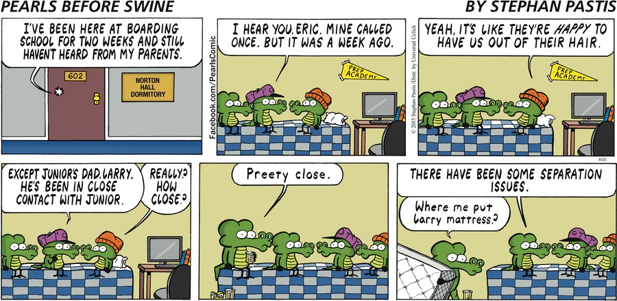 Pearls Before Swine Comic Strip for August 23, 2015