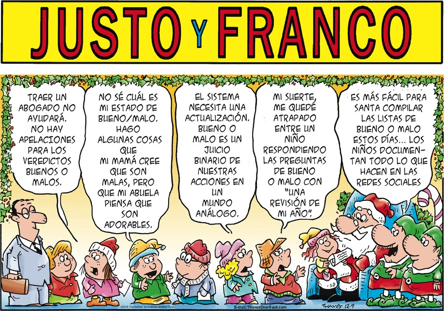 Justo y Franco by Thaves for December 09, 2018