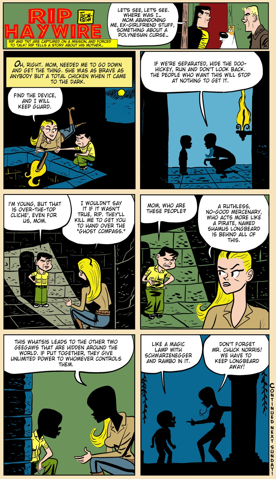 Rip Haywire Comic Strip for July 21, 2013