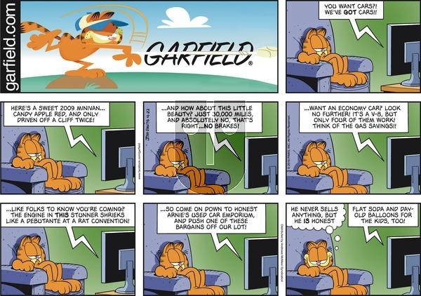 Garfield on Sunday April 22, 2018 Comic Strip