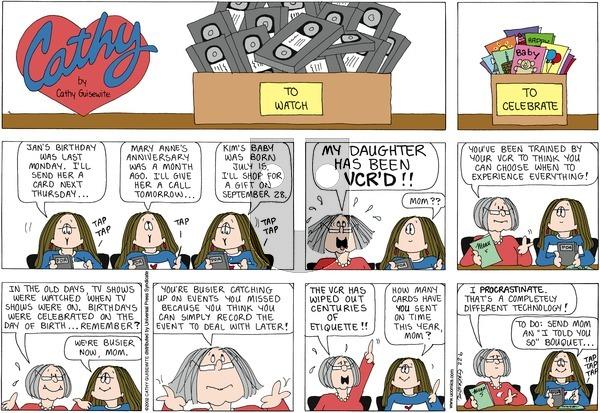 Cathy on Sunday September 22, 2013 Comic Strip