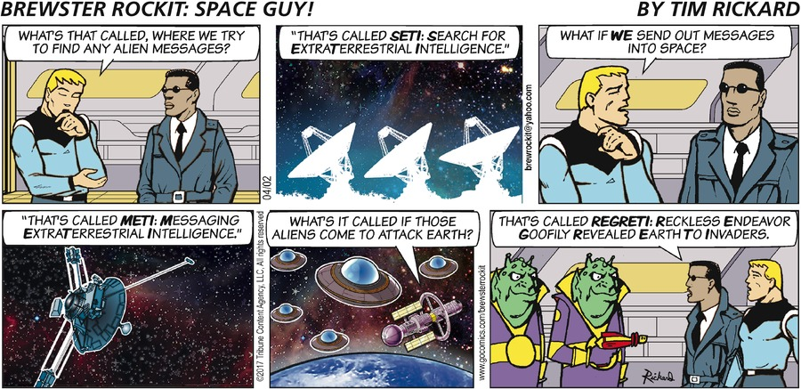 Brewster Rockit Comic Strip for April 02, 2017