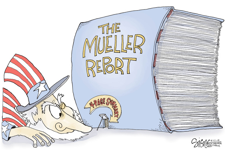 Signe Wilkinson by Signe Wilkinson for April 11, 2019