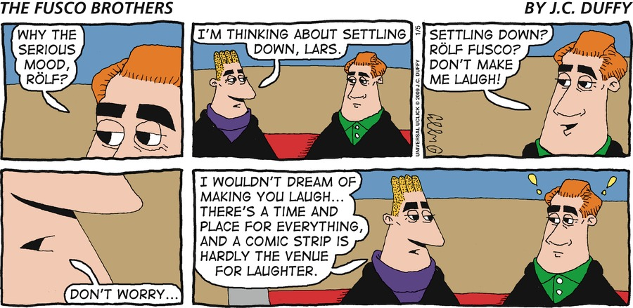The Fusco Brothers Comic Strip for January 05, 2014