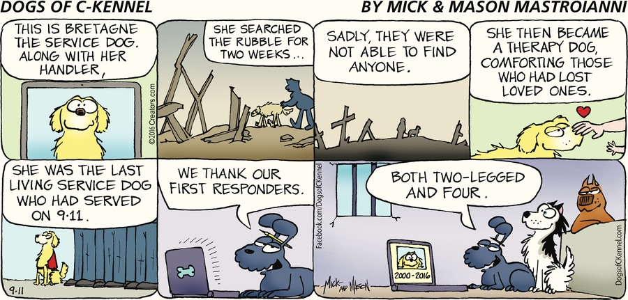Dogs of C-Kennel Comic Strip for September 11, 2016