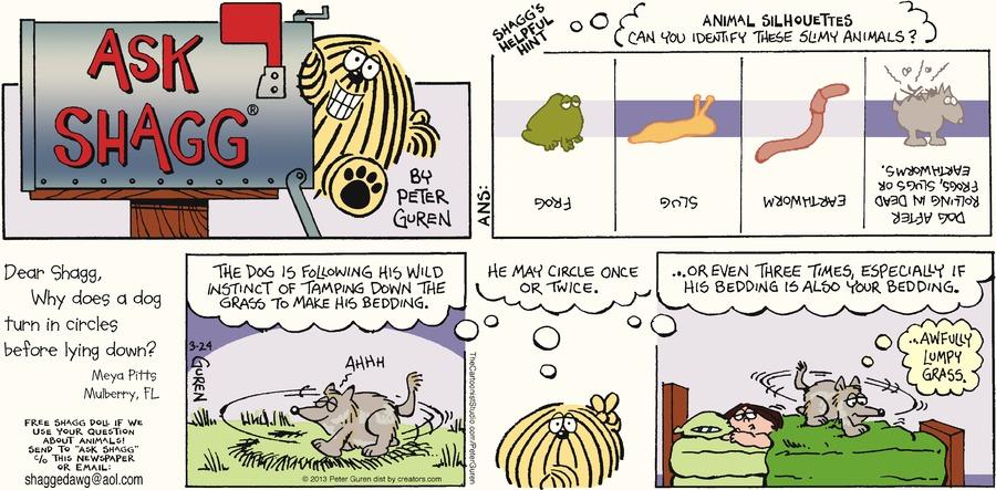 Ask Shagg for Mar 24, 2013 Comic Strip