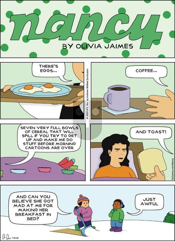 Nancy - Sunday January 26, 2020 Comic Strip