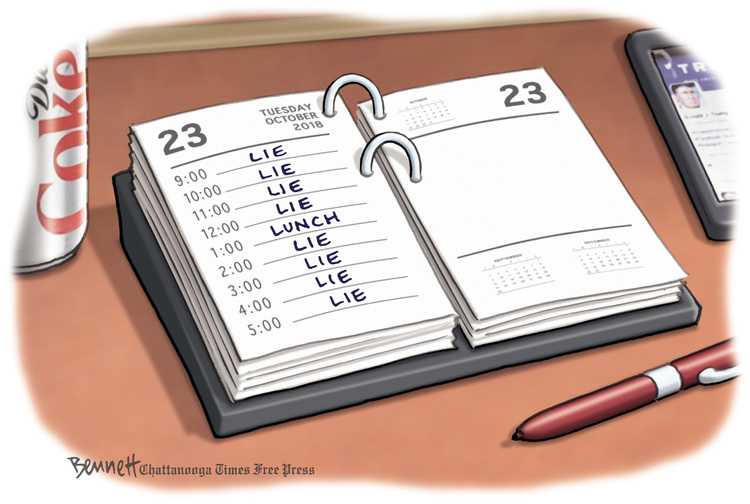 Clay Bennett Comic Strip for October 23, 2018