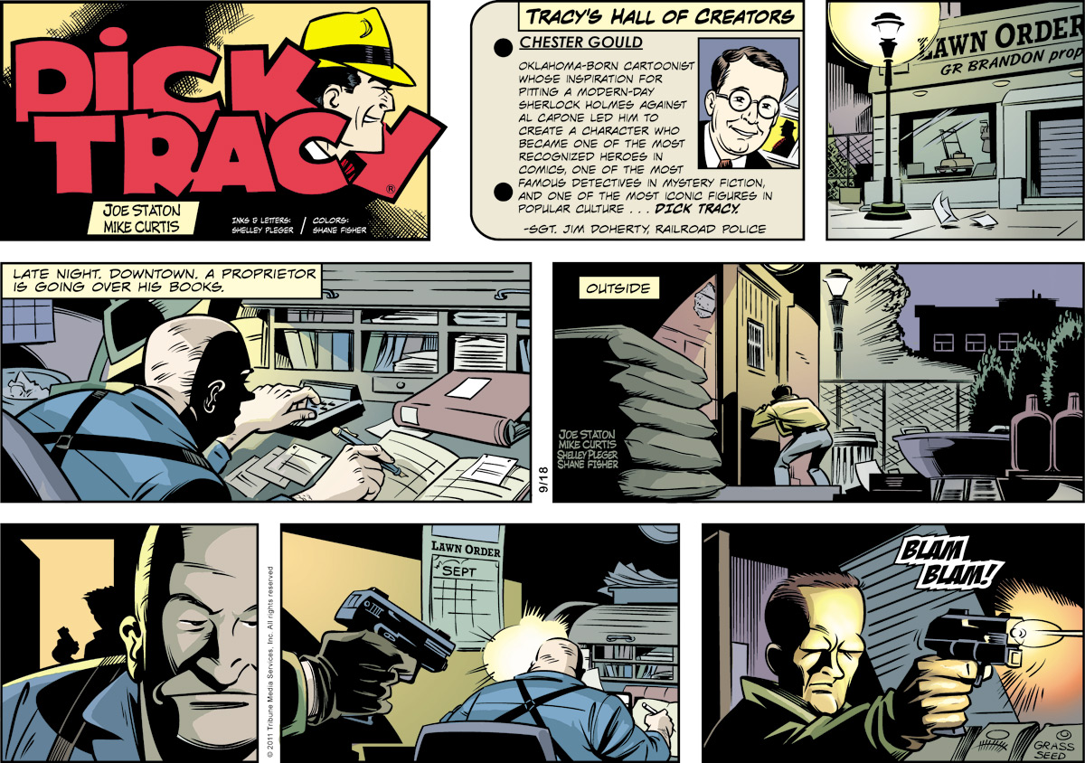 Dick Tracy Comic Strip for September 18, 2011