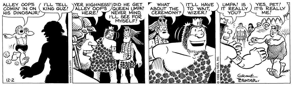 Alley Oop for December 02, 1999 Comic Strip