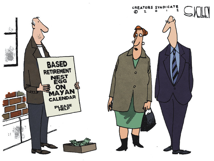 Steve Kelley for Dec 21, 2012 Comic Strip