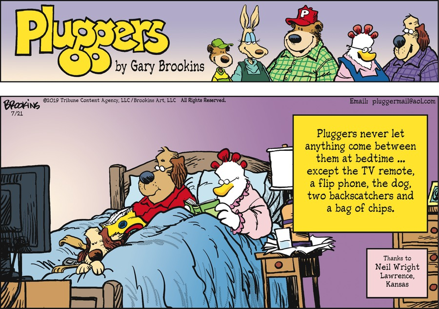 Pluggers Comic Strip for July 21, 2019