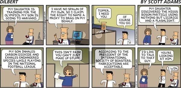 Dilbert on Sunday June 24, 2012 Comic Strip