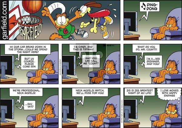 Garfield on Sunday November 1, 2015 Comic Strip