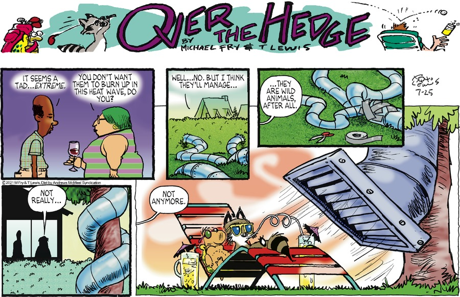 Over the Hedge Comic Strip for July 25, 2021