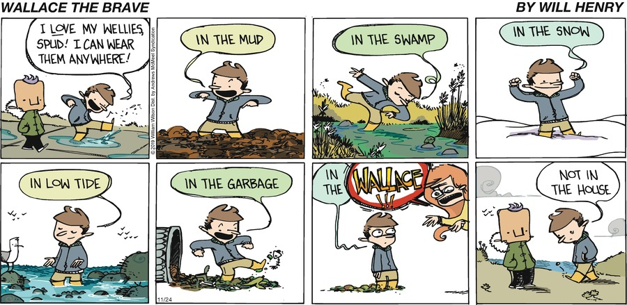 Wallace the Brave Comic Strip for November 24, 2019
