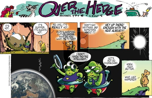 Over the Hedge on Sunday August 12, 2018 Comic Strip