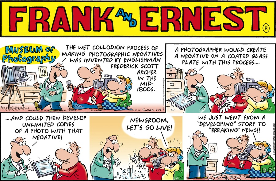 Frank and Ernest Comic Strip for May 19, 2019