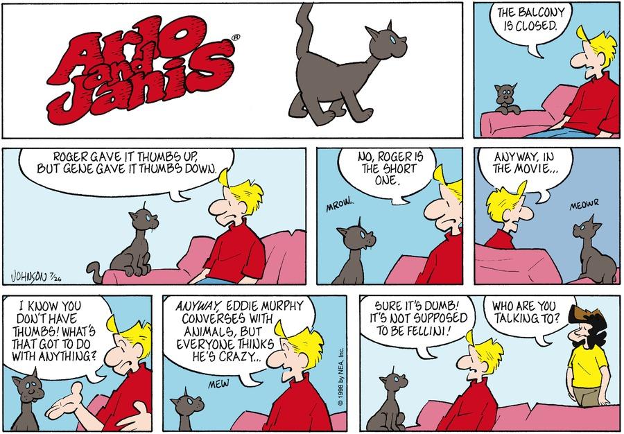Arlo and Janis for Jul 26, 1998 Comic Strip
