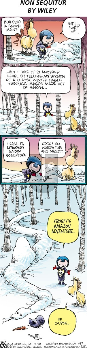 Non Sequitur - Sunday December 30, 2012 Comic Strip