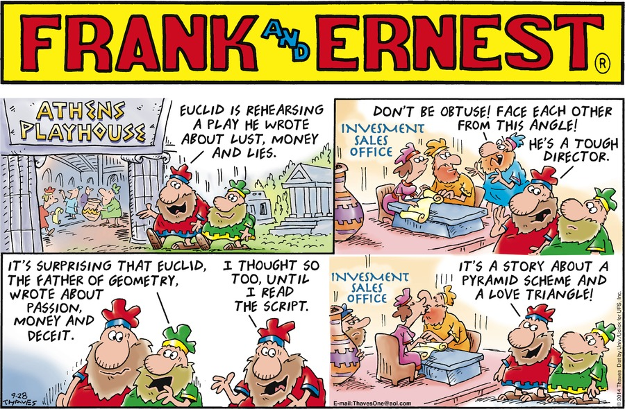 Frank and Ernest Comic Strip for September 28, 2014