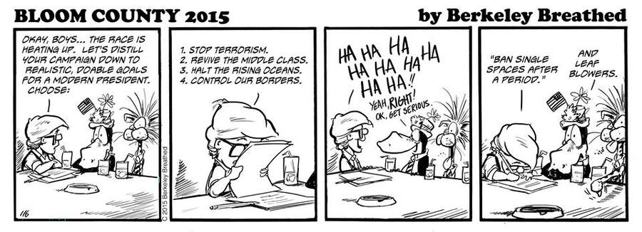 Bloom County 2019 Comic Strip for December 22, 2015