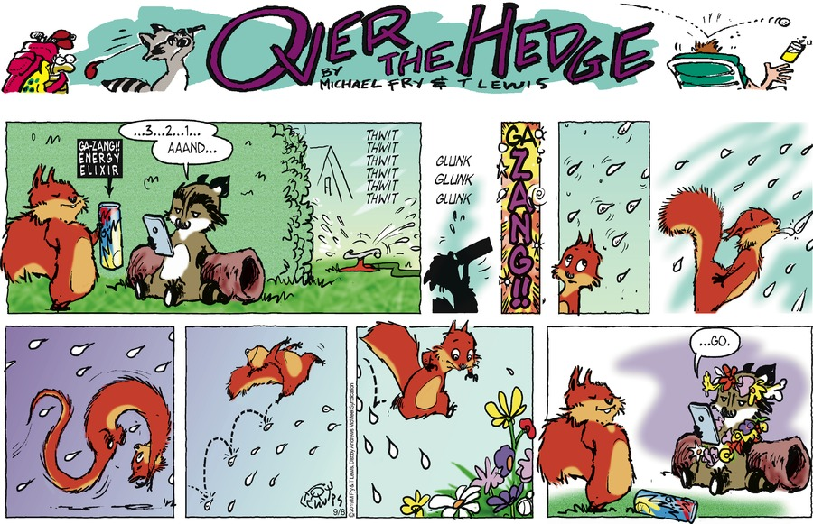 Over the Hedge by T Lewis and Michael Fry for September 08, 2019
