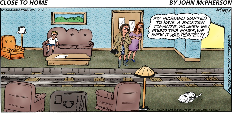 Close to Home for Jul 7, 2013 Comic Strip
