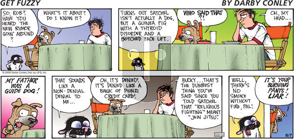 Get Fuzzy on Sunday August 7, 2011 Comic Strip