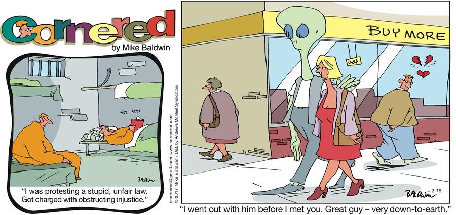 Cornered Comic Strip for February 19, 2017