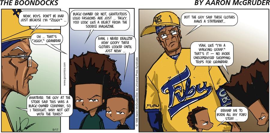 The Boondocks for Sep 17, 2006 Comic Strip