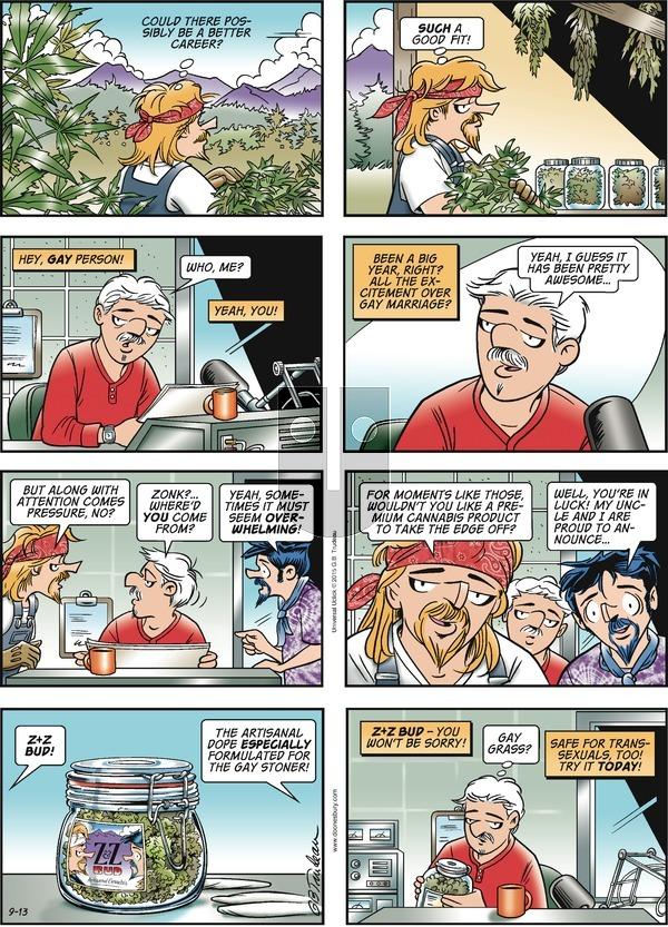 Doonesbury - Sunday September 13, 2015 Comic Strip