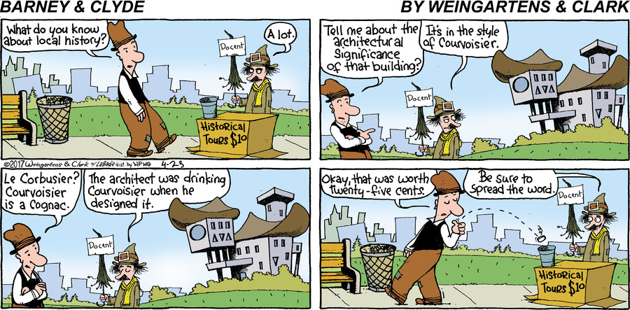 Barney & Clyde Comic Strip for April 23, 2017