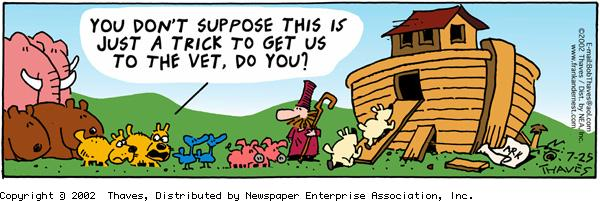 Frank and Ernest Comic Strip for July 25, 2002