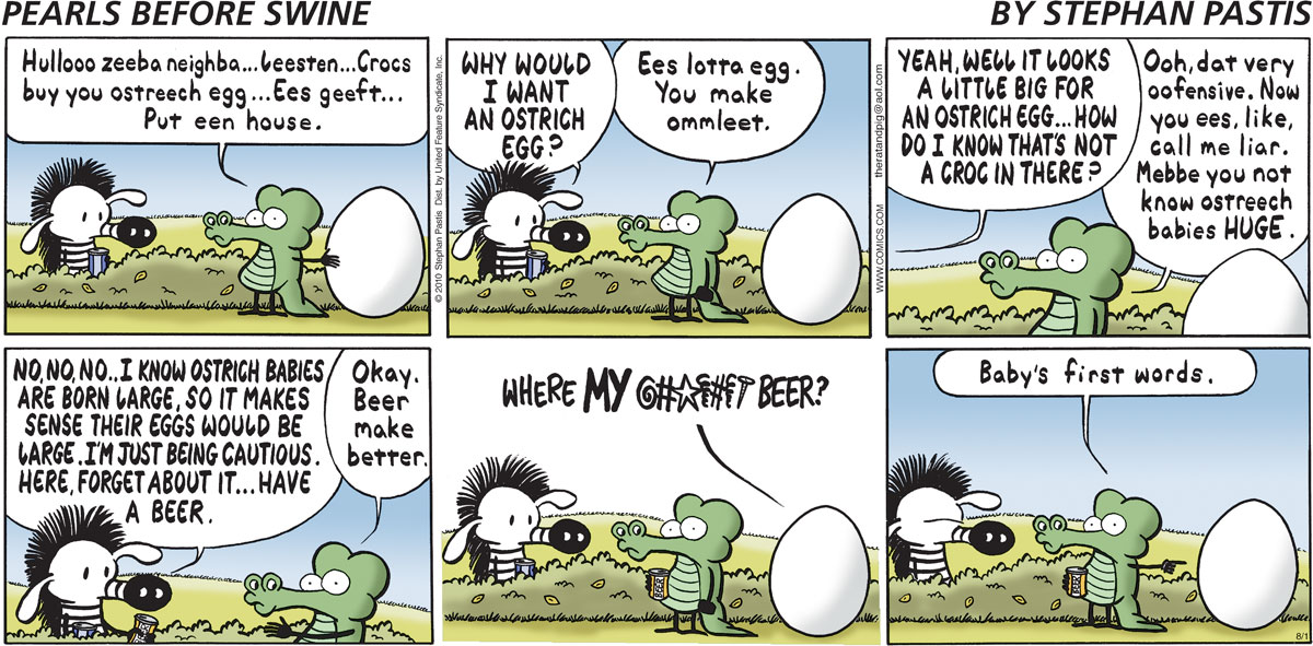 Pearls Before Swine Comic Strip for August 01, 2010