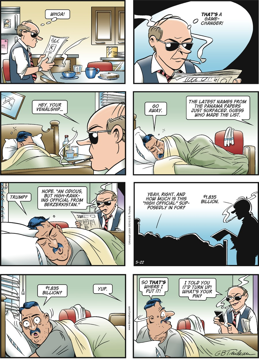 Doonesbury Comic Strip for May 22, 2016