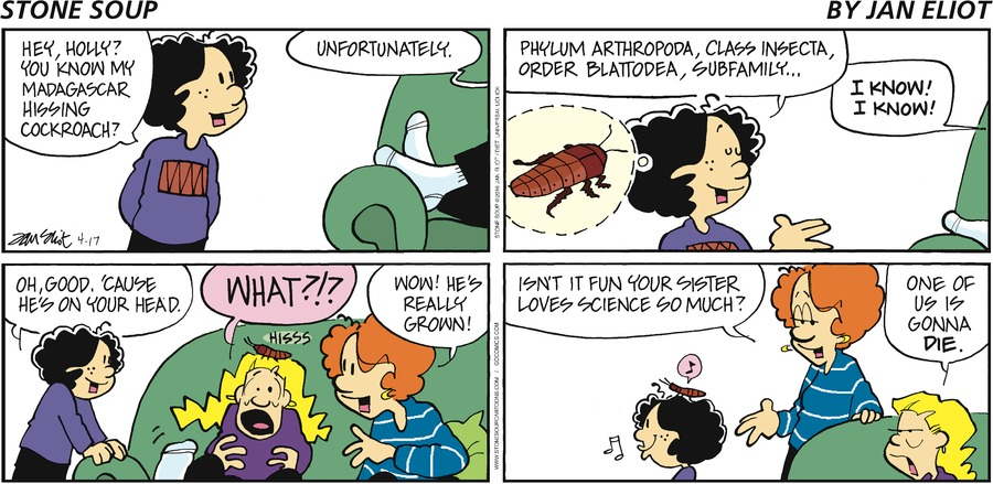 Stone Soup Comic Strip for April 17, 2016