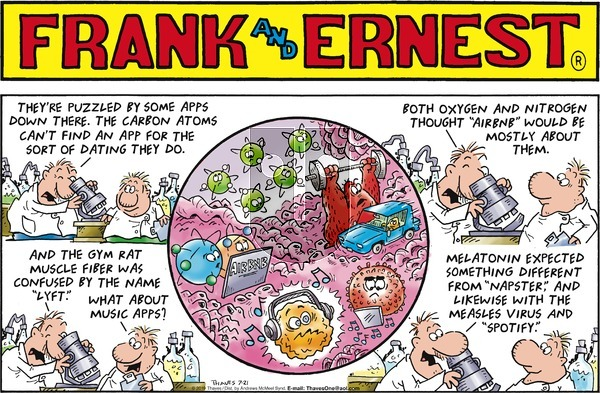 Frank and Ernest - Sunday July 21, 2019 Comic Strip